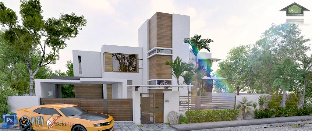 Modern Minimalist House 3 Storey Rooftop Residence J J